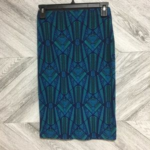 5 for $25! Forever 21 Teal Printed Pencil Skirt